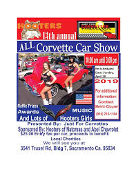 re scheduled date 4 28 2019 hooter s 13th annual all corvette car show just for corvettes