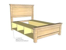 king storage bed plans. Storage Bed Plans Platform King Farmhouse Drawers .
