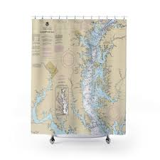 Upper Chesapeake Bay Chart Upper Chesapeake Bay Nautical Chart Shower Curtains Chart Mugs