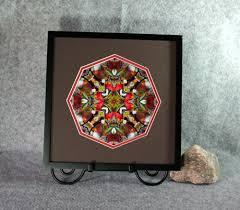 cardinal sacred geometry wall decor mandala wall art scarlet soloist framed