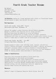 Infant Teacher Job Description Resume