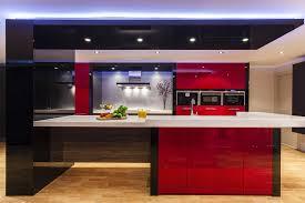 Black And Red Kitchen Richmond Hill Custom Kitchens Kitchen Renovation Jumeirah Kitchens