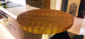 circular oak end grain worktop