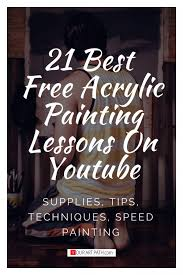 free acrylic painting lessons techniques tutorials s