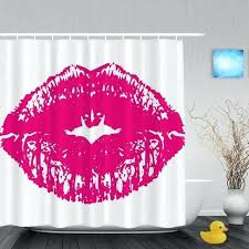 lips shower curtain valentine gift shower curtain red lips on white background bathroom shower curtains for lips shower curtain