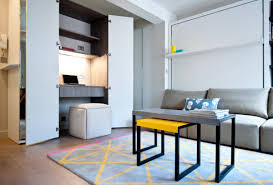 office living room ideas. Studio Apartment With Mirrored Wardrobe Office (via Houzz) Living Room Ideas