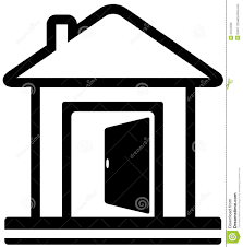 front door clipart. 1281x1300 House With Open Door Clipart Front