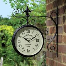 bentley garden paddington double sided wall clock 1