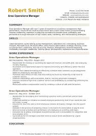 Operations Resume Examples Area Operations Manager Resume Samples Qwikresume