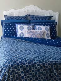 starry nights indigo blue batik duvet cover