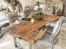 Massivholz Esstisch Aus Einem Baumstamm 200 Cm