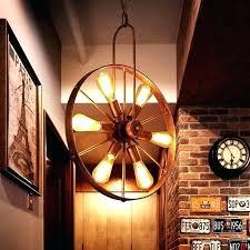 inch diameter wagon wheel mason jar chandelier light fixture