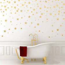 130pcs package stars wall art gold star decal removable gold confetti stars living room baby nursery wall decor wall stickers in wall stickers from home  on stars nursery wall art with 130pcs package stars wall art gold star decal removable gold