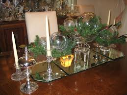 christmas centerpieces for round tables. Dining Room:Christmas Centerpieces For Room Table With Glass Ornament And Candle Decoration On Christmas Round Tables