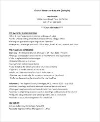 church secretary resume examples of secretary resumes