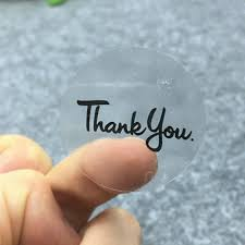 Black Round <b>Transparent Thank You</b> Stickers Weddings, Seal ...