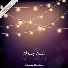 Cute background with string lights Free Vector