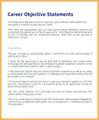 Resume For Job Example Resume Job Objective Example Statement New Career Ambitions Examples Resume