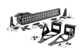 Bumper Light Bar 20 Inch Black Series Dual Row Led Light Bar W Hidden Bumper Mounts Elite