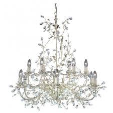 almandite large 12 light cream gold chandelier
