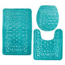 bathroom drop gorgeous teal bath rugs round soft peach drop gorgeous teal bath rugs round