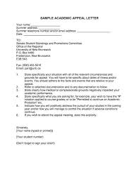 Appeal Letter Format Examples Academic Appeal Letter Sample Appeal Letter For An