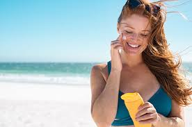 Image result for women using sunscreen