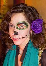 half face sugar skull makeup