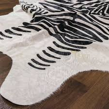 great zebra cowhide rug s rugs brown jeanbolen info