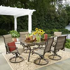grand resort patio furniture beautiful grand resort 7 piece oakdale padded sling dining set limited