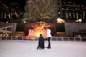 Skating Proposal Marriage Ideas New Rockefeller Ice York