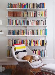 womb chair & bookshelves