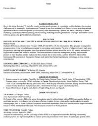 Sports Resume New Sample Resume Sports Marketing Assistant Httpresumesdesign