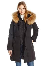 soia kyo women s salma f6 classic down coat with ra fur trim hood