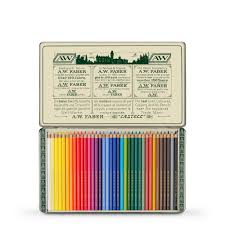 Faber Castell Polychromos Pencil 111th Anniversary Limited Edition Metal Tin Set Of 36