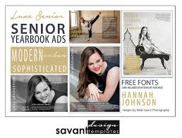 Yearbook Ads Senior Graduation Photoshop Templates By