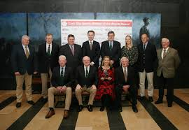 l to r joe hartmett meeting director ccs tony o connell chairman ccs donie walsh coach leevale a c back row l to r donal murnane