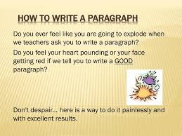 Ppt How To Write A Paragraph Powerpoint Presentation Id