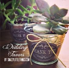 Succulent Wedding Favors By SnazzyLittleThings.com