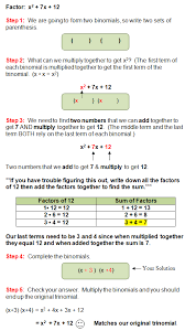 factoring a trinomial with a lead coefficient greater than one