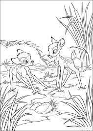 Feline Met Bambi Kleurplaat Gratis Kleurplaten Printen