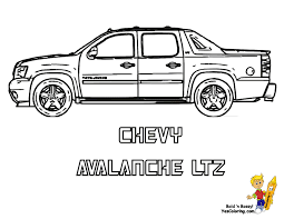 chevy avalanche truck coloringpage at yescoloring