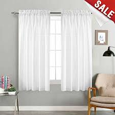 Amazon.com: Privacy Semi Sheer Curtains for Bedroom Casual Weave ...