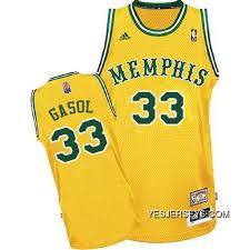 Marc Gasol Swingman In Gold Adidas Nba Memphis Grizzlies Aba
