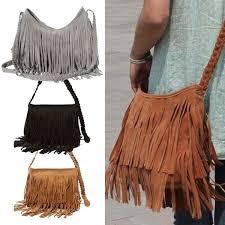 <b>2017 New</b> Hot Sale <b>Fashion Women</b> Suede Weave Tassel Shoulder ...