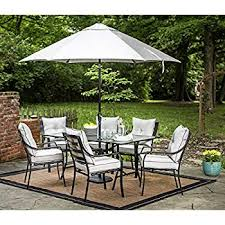 patio furniture with umbrella. Plain Patio Hanover Lavallette 7 Piece Outdoor Dining Set With Table Umbrella And Base For Patio Furniture With