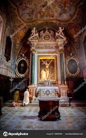 Italian Baroque Interior Design Monte Oliveto Tuscany Italy Baroque Interior Frescoes Abbey