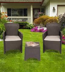 veblen outdoor patio set in black