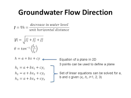 30 groundwater flow direction
