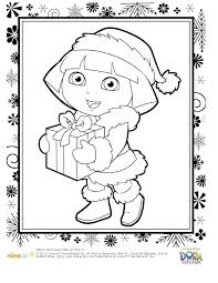 Nick Jr Dora Coloring Pages With Com Free Printable Page For Kids